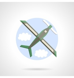 Plane icon flat color design icon vector image