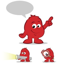 Red Character Set vector image vector image