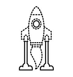 rocket launch start innovation icon vector image