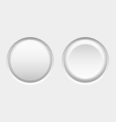 Round blank buttons vector