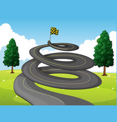Round road in the park vector