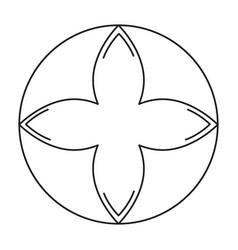 Rune symbol icon vector