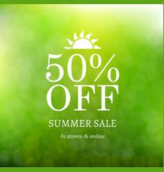 sale summer background vector image