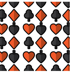 seamless poker pattern with card suits casino vector image