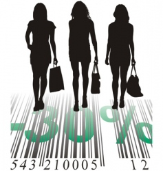 shopping discount thirty percent vector image