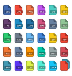 simple flat style file type vector image