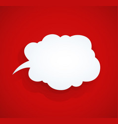 Speech bubble at red vector