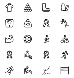 Sports Outline Icons 6 vector