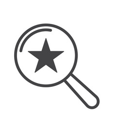 star icon magnifying glass vector image