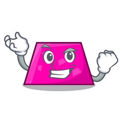 successful trapezoid character cartoon style vector image