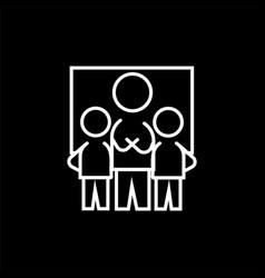 teamwork icon sign symbol vector image