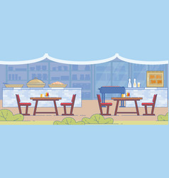 Traditional barbecue and grill restaurant design vector