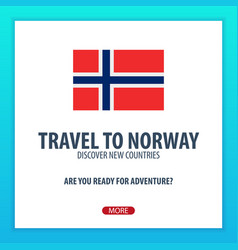 travel to norway discover and explore new vector image