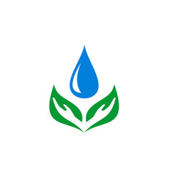 water hand nature logo icon vector image