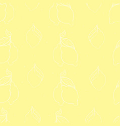 Watercolor seamless pattern with lemons on the vector