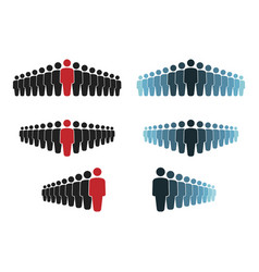 workgroup with leader sign set people group icons vector image