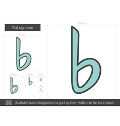 Flat sign line icon vector image vector image