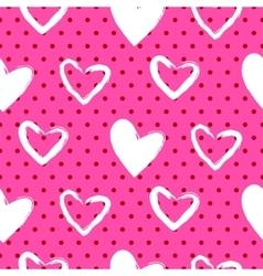 Romantic valentine seamless pattern vector image vector image