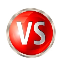 Versus button isolated vector image