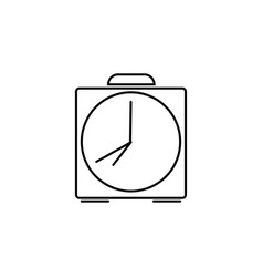 alarm clock bell linear icon vector image