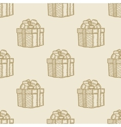Christmas gift box pattern seamless background vector