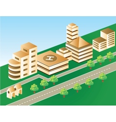 city in brown color vector image vector image