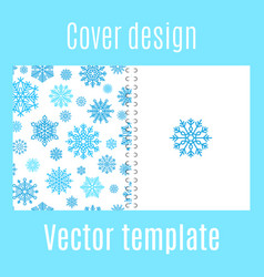 cover design with winter snowflake pattern vector image