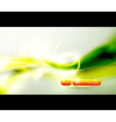 Green shiny wave background vector image