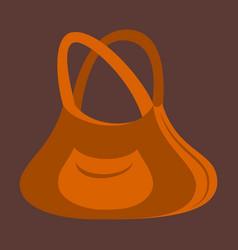 icon in flat design fashion clothes handbag vector image vector image