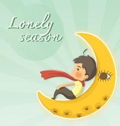 lonely season vector image