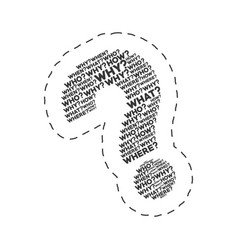 question mark words image vector image