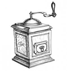 coffee grinder sketch vector image vector image