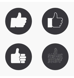 modern thumb up icons set vector image vector image