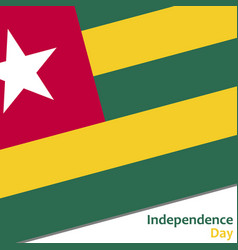 togo independence day vector image vector image