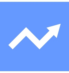 White Arrow Graph on Blue Background vector image