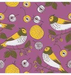 birds in trees wallpaper vector image vector image