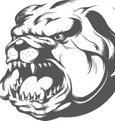 Bull Dog Silhouette vector image