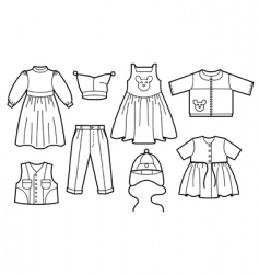 children clothes vector image