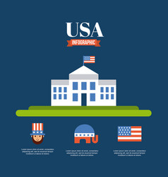 Infographic usa related image vector