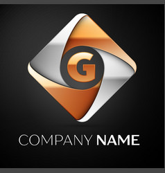 letter g logo symbol in the colorful rhombus on vector image vector image