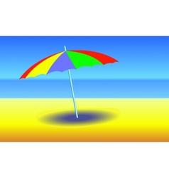 Umbrella on sunny beach vector image