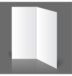 White blank vector image vector image