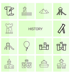 14 history icons vector