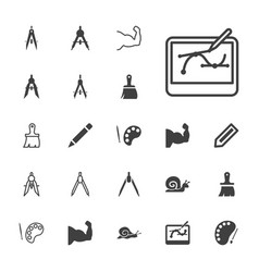 22 draw icons vector