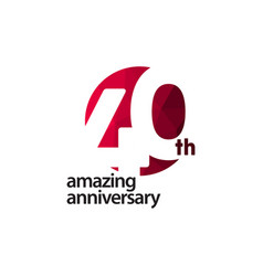 40 th amazing anniversary celebration template vector
