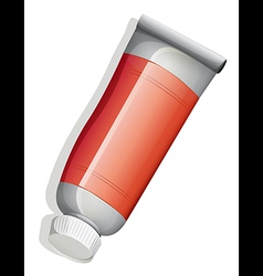 A topview of a red tube vector