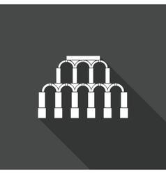 Ancient Roman architecture Icon vector image