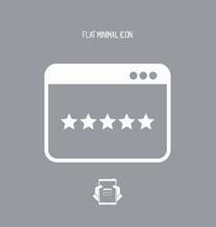 application top rating - flat minimal icon vector image