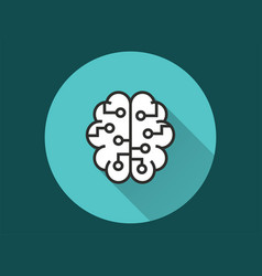 artificial intelligence - icon for graphic vector image