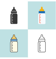 baby milk bottle in various design vector image